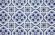 Blue pattern detail