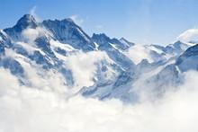 Paysage de montagne Jungfraujoch Alpes