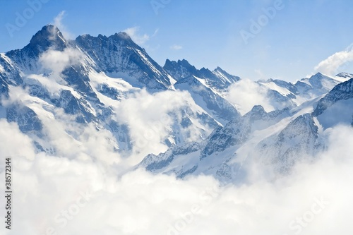 Tuinposter Alpen Jungfraujoch Alps mountain landscape