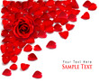 Background Of Red Rose Petals ...