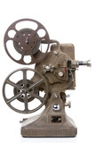 Fototapety old film projector isolated on white