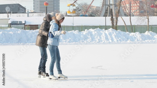 Skating together