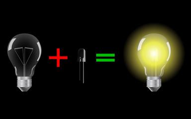 lampada con led