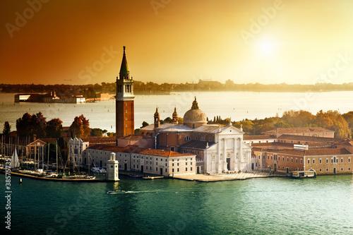 Zdjęcia na płótnie, fototapety na wymiar, obrazy na ścianę : view of San Giorgio island, Venice, Italy