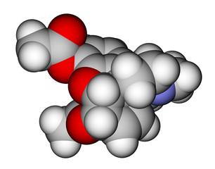 Heroin molecular model