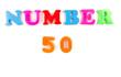 number 50 written in fridge magnets