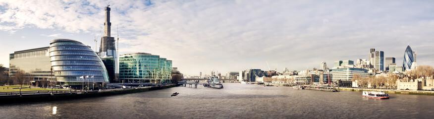 London skyline seen from the Tower bridge