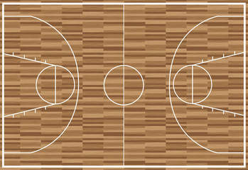 regular basketball pitch