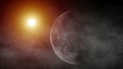 Sun and moon fog space  2