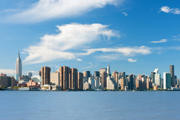 New York from Hudson river