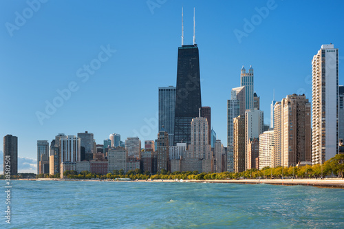 View of Chicago and Michigan lake