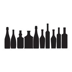 bottles ouline vector silhouette
