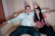 Couple In Party Hats