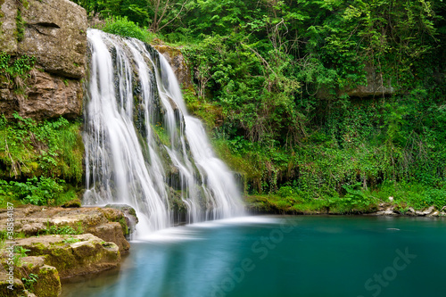 Waterfall in nature - 38584187