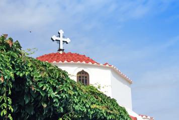 Greece,Rhodes,Lindos -Greek orthodox church
