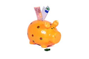 Sparschwein mit Geld Schein