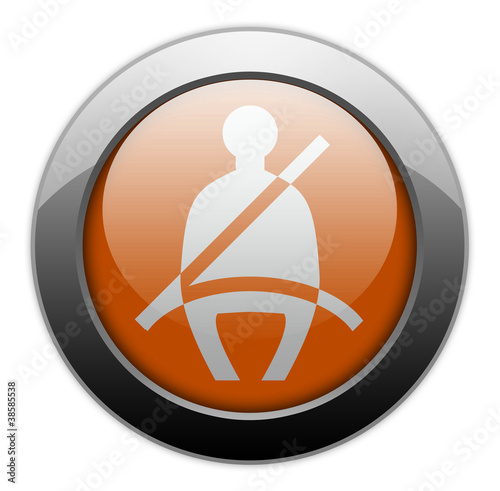 "Orange Metallic Orb Button ""Seat Belt"""
