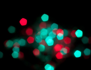 green and red bokeh
