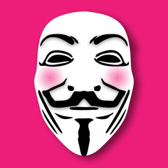 Anonymous Guy Fawkes Maske PINK Vector