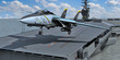 flugzeugträger und kampfjet beim start v2