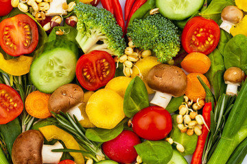 Ein Herz aus Gemüse. Gesunde Ernährung