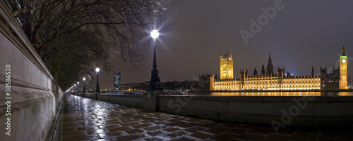 The Houses of Parliament and Embankment Panorama