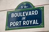 Boulevard du port royal à Paris poster
