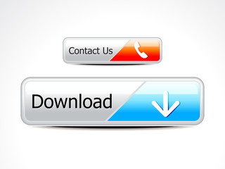abstract glossy download & contact button