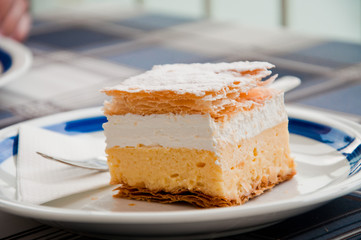 Traditional Cream-pie of Bled, Slovenia