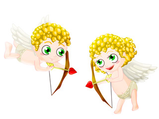 couple of cupid. clipping path included