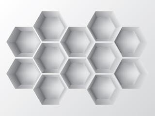 Abstract 3d shelf