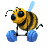 3d Bee powerlifter
