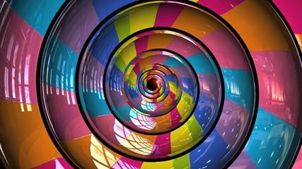 Hypnotic rainbow vortex loop 3d