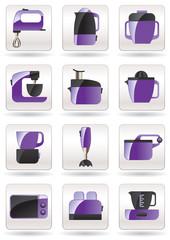 Household appliances for kitchen - vector illustration
