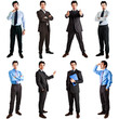 Collection of full length portraits of a businessman