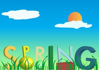 3D spring text
