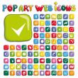 Stylized pop art web icon set