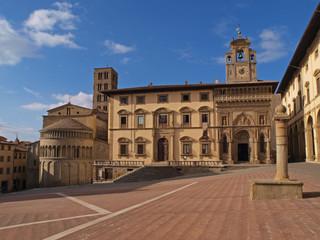 Piazza Grande, Arezzo, Italy.