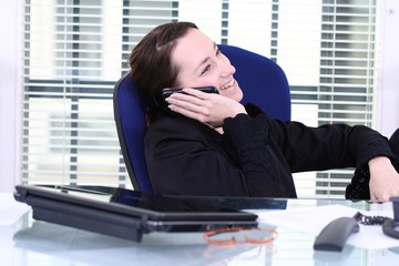 unreliable worker uses her private mobile at Work