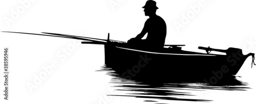 Fisherman silhouette - 38595946