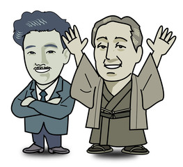Yukichi Fukuzawa and Hideyo Noguchi is pleased