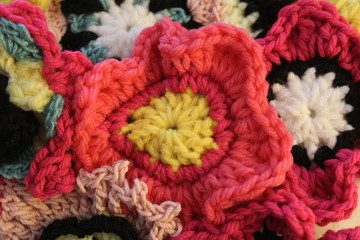 Crochet Flowers Closeup