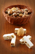 Torrone con mandorle - Nougat with almonds