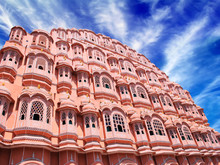Hawa Mahal, der Palast der Winde, Jaipur, Rajasthan, Indien.