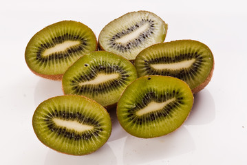 fresh kiwi fruits