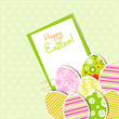 Template egg greeting card, vector
