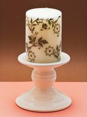 Decorative ceramic candlestick