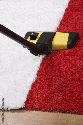 Tube cleaner on the carpet