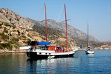 Cruise on schooner in Turkey