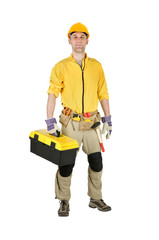 Home repair man isolated